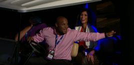 UFC Champ Daniel Cormier Drives Golf Cart, Crashes Champ Joanna Jedrzejczyk's Q&A With FS1's Karyn Bryant