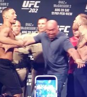 UFC 202: Nate Diaz and Conor McGregor Weigh-In + Get In Each Other's Faces! Must See!